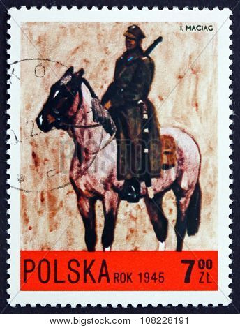 Postage Stamp Poland 1972 Light Cavalry