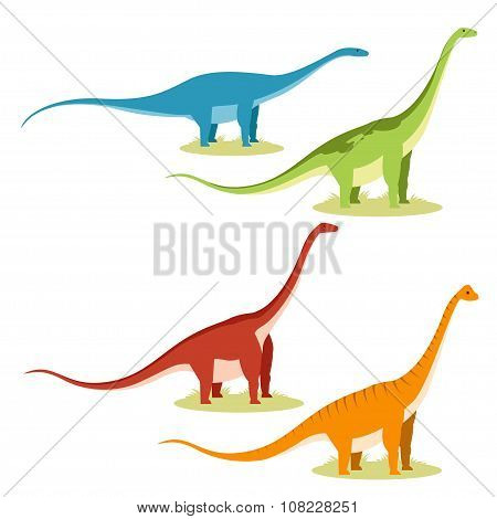 Set of sauropods
