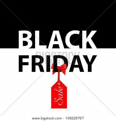 Vector illustration. Banner Black Friday sales. The price tag sa