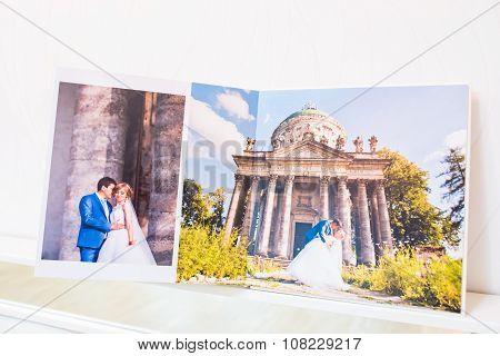 Classic White Leather Wedding Photobook And Album