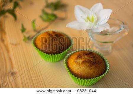 Muffins In Green