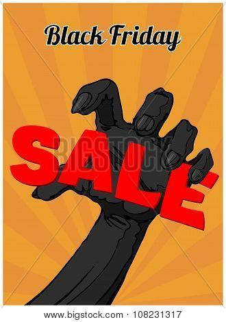 Black Friday Sale Poster. Sale background