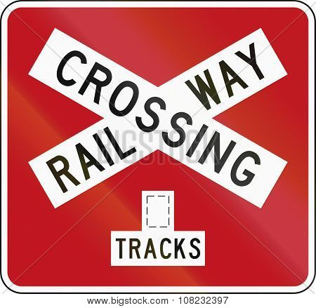 New Zealand Road Sign Pw-14B - Railway Crossbuck (multiple Tracks)