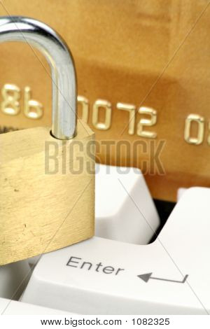 Concept Online Shopping Or Banking Safety