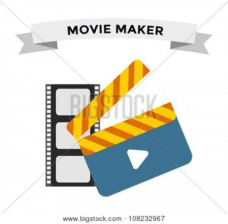 Cinema film clapper board vector illustration icons set. Television icons, TV icons. Movie clapper board icon silhouette isolated. Movie clapboard for scene edition. Film clapboard movie vector icons