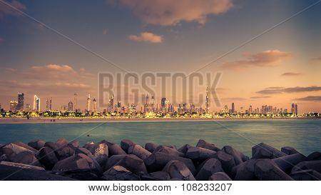 United Arab Emyrates: beautiful skyline of Dubai