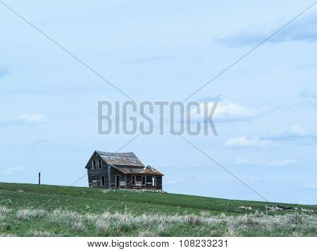 Old Deserted Farm Closeup