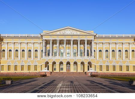 Russian Museum (mikhailovsky Palace) In St. Petersburg, Russia