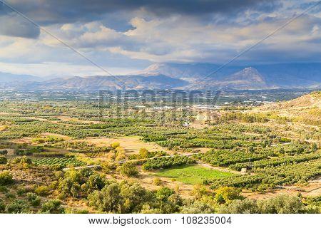 Messara Plain In Crete