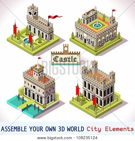 Castle 02 Tiles Isometric