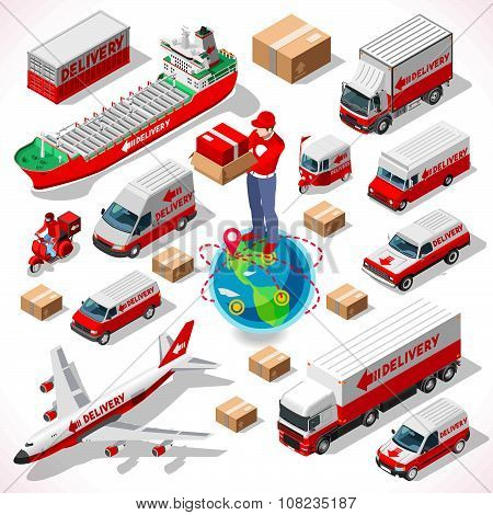 Delivery 05 Infographic Isometric
