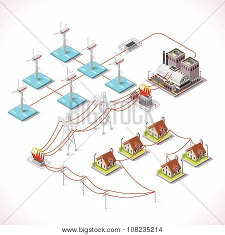 Energy 16 Infographic Isometric