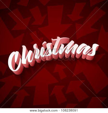 Vector Christmas design with arrows.