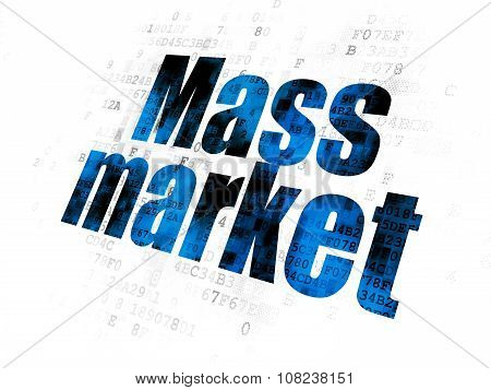 Advertising concept: Mass Market on Digital background