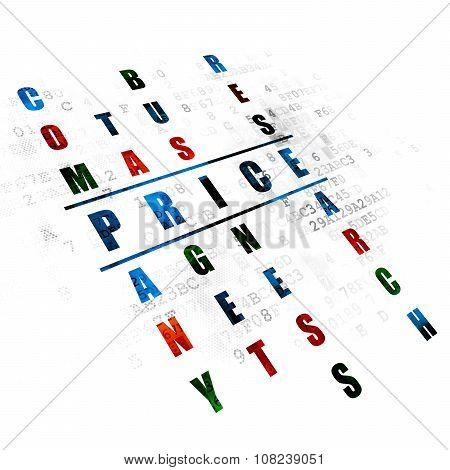 Marketing concept: Price in Crossword Puzzle