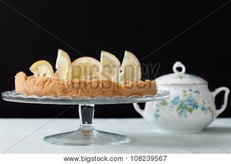 Cake Stand With Lemons Tart