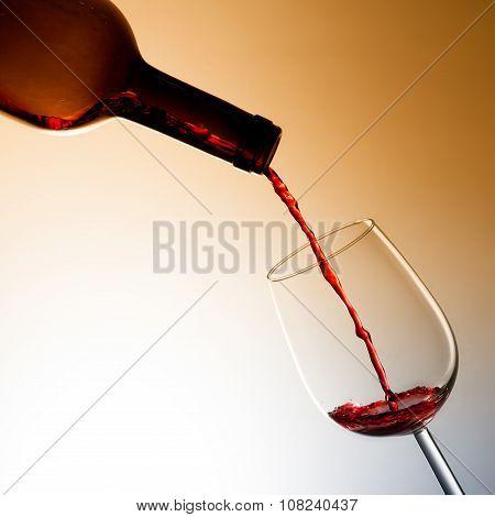 Red Wine Splashing, wine tasting concept