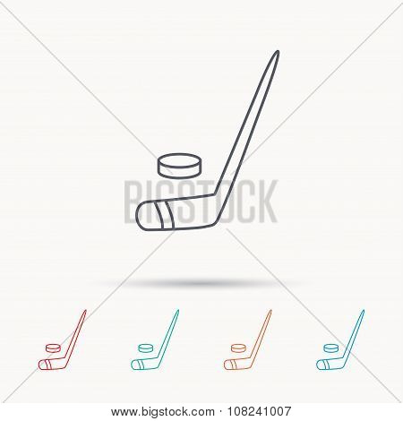 Ice hockey icon. Professional sport game sign.