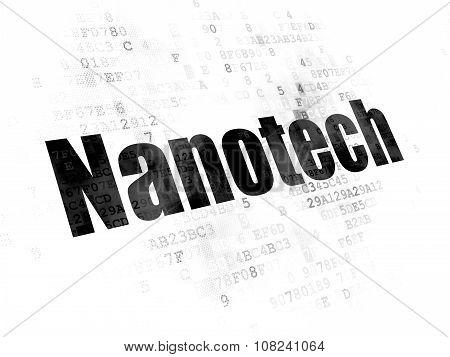 Science concept: Nanotech on Digital background