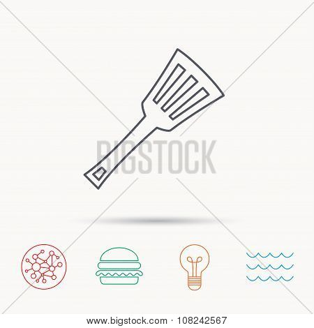 Kitchen utensil icon. Kitchenware spatula sign.