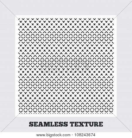 Dashed lines geometric seamless pattern.