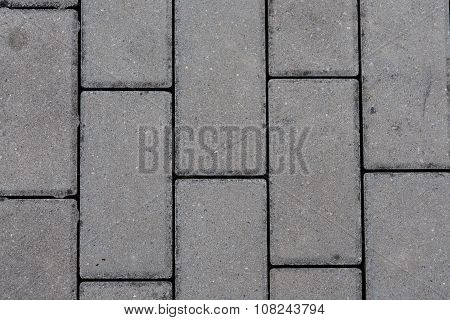 detail of interlocking concrete pavement - texture