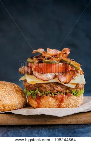 Beef Burger And Bacon