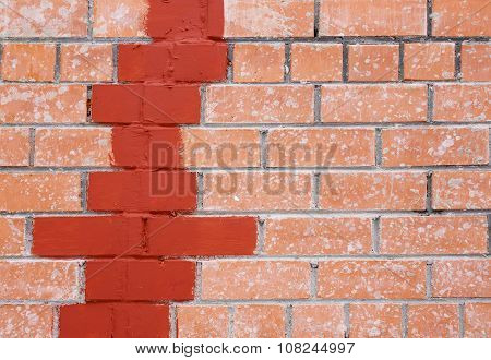 repair cracks in the brick wall