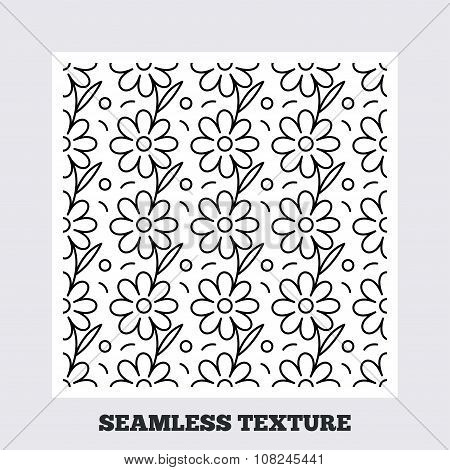 Flower stripped seamless pattern.