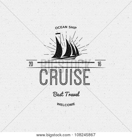 Cruise best travel insignia  and labels for any use
