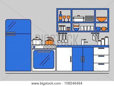 Kitchen. Kitchen interior.