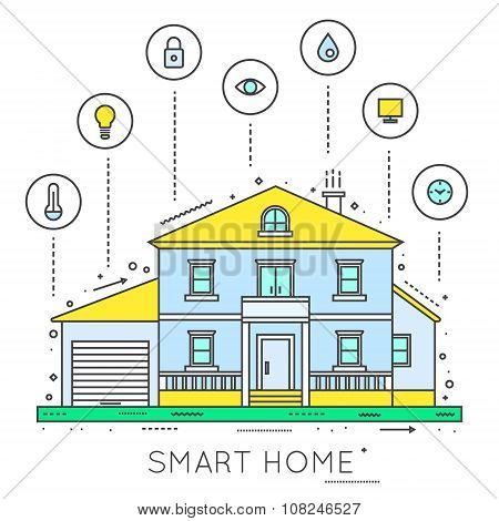 Smart house. Home technology.