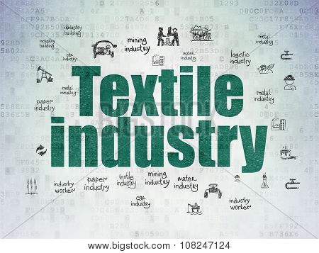 Industry concept: Textile Industry on Digital Paper background