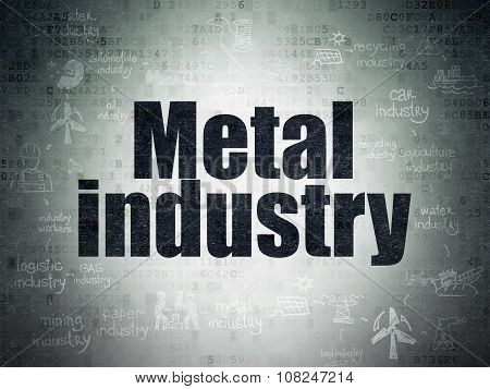 Manufacuring concept: Metal Industry on Digital Paper background