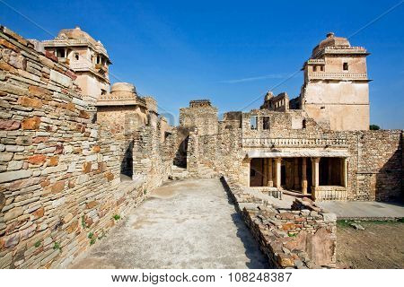 Maze Of The Chittorgarh Fort - Unesco World Heritage Site In Rajasthan.