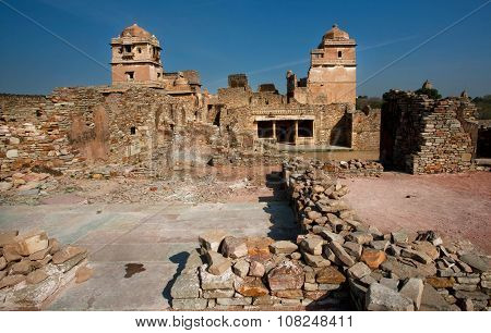 Ruined Walls Of The Chittorgarh Fort - Unesco World Heritage Site In India