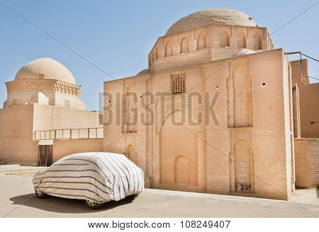 Old City In Middle East With Covered Auto And Ancient Structures