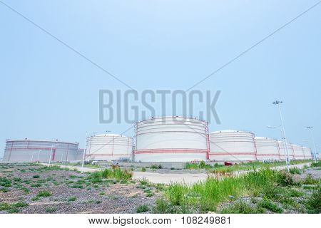 landscape of oil depot