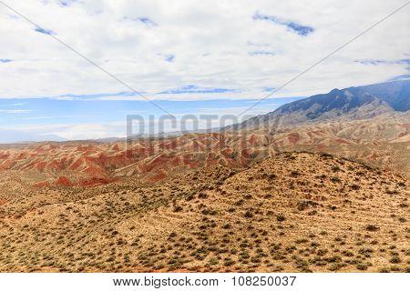 landscape of red sandstone no body