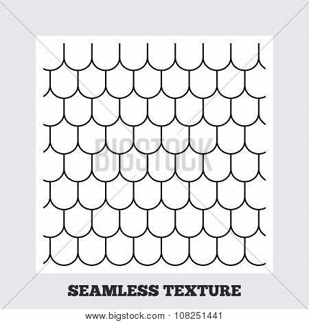 Roof tile geometric seamless pattern.