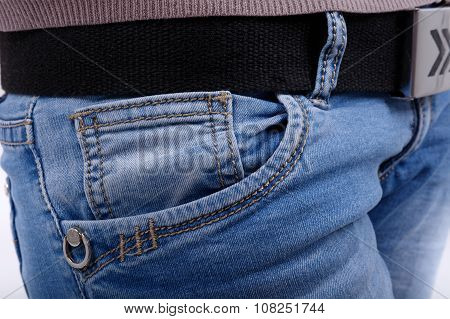 Pocket Denim Trousers