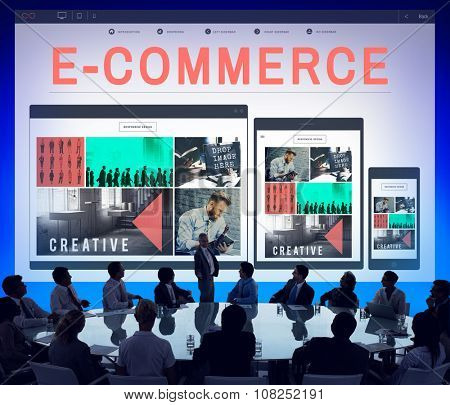 E-business E-commrce Business Responsive Design Concept