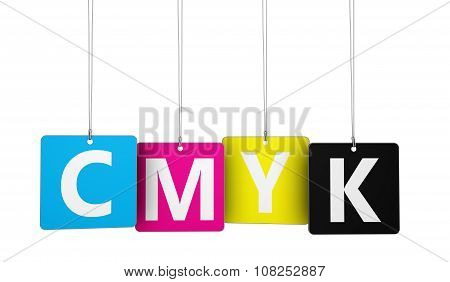 Cmyk Digital Offset Printing Concept