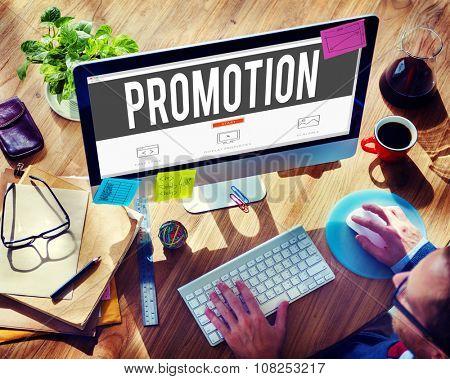 Promotion Marketing Commercial Advertising Reward Concept