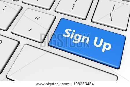 Sign Up Button Key
