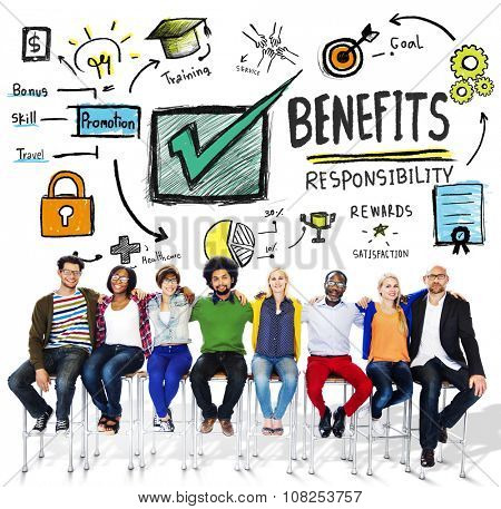 Benefits Gain Profit Earning Income People Friendship Concept