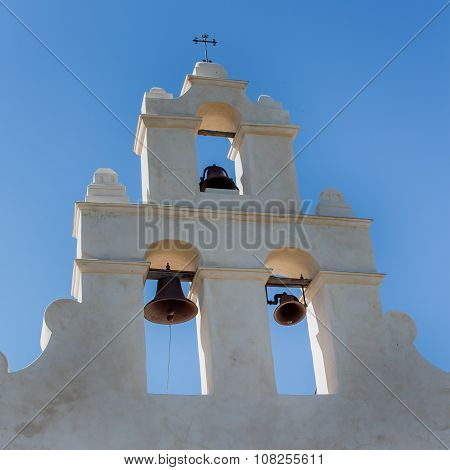 Close up of the Mission Church Bells