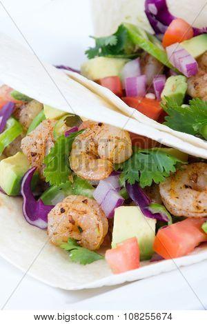 Two Delicious Shrimp Tacos