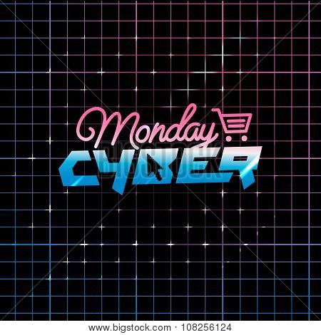 Cyber Monday online shopping and marketing concept