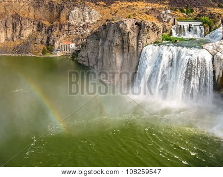 Rainbow in Shoshone Falls Idaho
